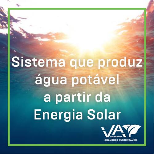 Água Potável com Energia Solar