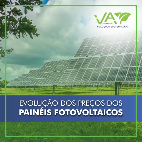 A Evolução dos Custos dos Painéis Fotovoltaicos